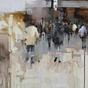 On The Street Print by Tibor Nagy