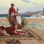 On The Terrace Tangiers Print by Rudolphe Ernst
