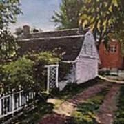 Onderdonk House  Garden Print by Victor SOTO