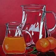 Orange Juggle Print by Sandra Marie Adams