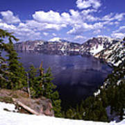 Oregon Crater Lake  Print by Anonymous