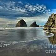 Oregon Sea Stack Surf Print by Adam Jewell