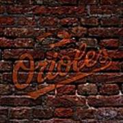 Orioles Baseball Graffiti On Brick  Print by Movie Poster Prints