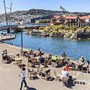 Outdoor Cafe Wellington New Zealand Print by Colin and Linda McKie