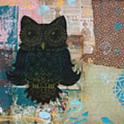 Owl Of Wisdom Print by Kyle Wood