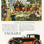 Packard 1930 1930s Usa Cc Cars Horses Print by The Advertising Archives