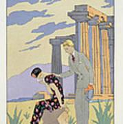 Paestum Print by Georges Barbier