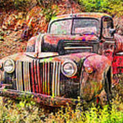 Painted Ford Print by Robert Jensen
