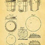 Painter Bottle Cap Patent Art 1892 Print by Ian Monk