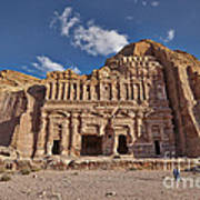 Palace Tomb In Nabataean Ancient Town Petra Print by Juergen Ritterbach