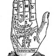 Palmistry Chart, 1885 Print by Granger