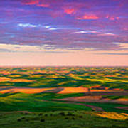 Palouse Land And Sky Print by Inge Johnsson