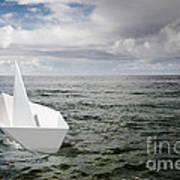 Paper Boat Print by Carlos Caetano