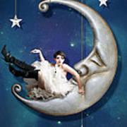 Paper Moon Print by Linda Lees