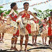 Papua New Guinea Cultural Show Print by Carol Mallillin-Tsiatsios