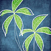 Paradise Palm Trees Print by Linda Woods