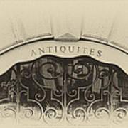 Paris Antique Store Sign Print by Tony Grider