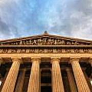 Parthenon From Below Print by Dan Sproul