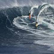 Party Wave At Jaws  Print by Brad Scott
