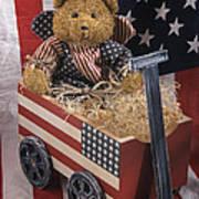 Patriot Bear Print by Sharon Elliott