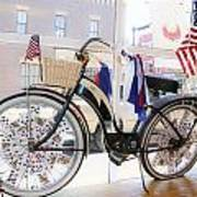Patriotic Bicycle Print by Cindy Archbell