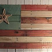 Patriotic Wood Flag Print by John Turek