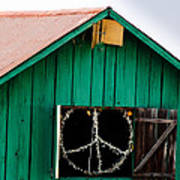 Peace Barn Print by Bill Gallagher