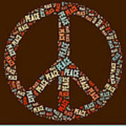 Peace Symbol Retro - 0103b  Print by Variance Collections