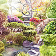 Peaceful Garden Print by Irina Sztukowski