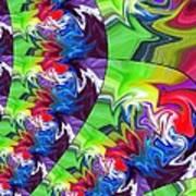 Peacock Print by Chris Butler