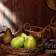 Pears At The Old Farm Market Print by Olivier Le Queinec