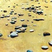 Pebbles On The Beach - Oil Print by Michelle Calkins
