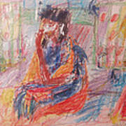Penelope Pensive Print by Esther Newman-Cohen