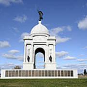Pennsylvania Memorial At Gettysburg Battlefield Print by Brendan Reals