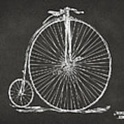 Penny-farthing 1867 High Wheeler Bicycle Patent - Gray Print by Nikki Marie Smith