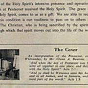 Pentecost By Glenn 1965 Print by Glenn Bautista