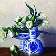 Peony Blossoms Print by Rick Hansen