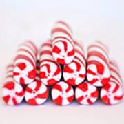 Peppermint Twist - Candy Canes Print by Kim Hojnacki