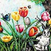 Peters Easter Garden Print by Shana Rowe Jackson