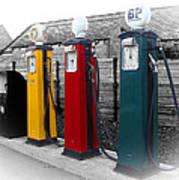 Petrol Station Print by Roberto Alamino