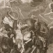 Phaeton Struck Down By Jupiters Print by Bernard Picart