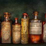Pharmacy - Daily Remedies  Print by Mike Savad