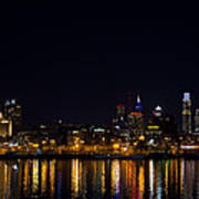 Philadelphia - Bright Lights Big City Print by Bill Cannon