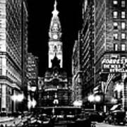 Philadelphia City Hall 1916 Print by Benjamin Yeager