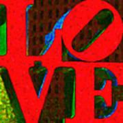 Philadelphia Love - Painterly V1 Print by Wingsdomain Art and Photography