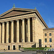 Philadelphia Museum Of Art Rear Facade Print by Olivier Le Queinec