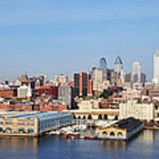 Philadelphia River View Print by Bill Cannon