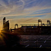Phillies Citizens Bank Park At Dawn Print by Bill Cannon