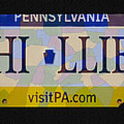 Phillies License Plate Map Print by Bill Cannon