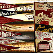 Phillies Pennants Print by Bill Cannon